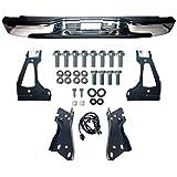MAPM - Silverado Rear Step Bumper Chrome With Brackets Light Kit Bolts Bar GM1103122 For 1999-2006 Silverado 1500 99-04 Silverado 2500 GMC Sierra 1500 2500