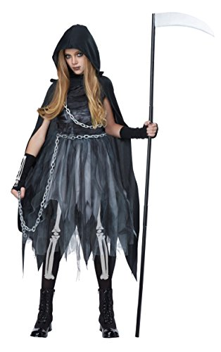 California Costumes Reaper Girl Costume, Medium, Black/Gray -