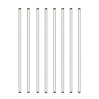 "Burry Life Science Glass Stick 12"" Length Stir Rod with Both Ends Round 8pcs/pk"