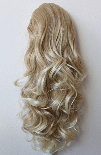 PRTTYSHOP Hair Piece Pony Tail Extension Draw String Voluminous Curly Heat-Resisting 22' blond mix #27T613 PH10