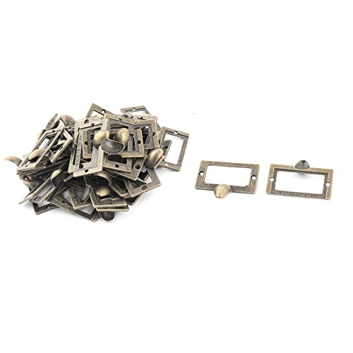 uxcell Metal Household Vintage Style Rectangle Cupboard Garderobe Door Pull Handle 50pcs by uxcell