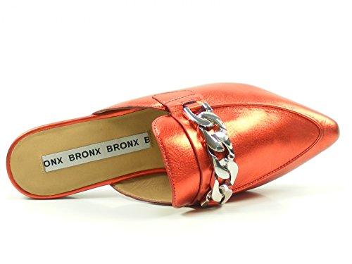 Bronx Damen BX 1480 Bfennerx Pantoffeln Rot