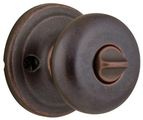 - 4 Pack Kwikset 730J-11P Juno Bed / Bath Privacy Knob Lockset - Venetian Bronze Finish