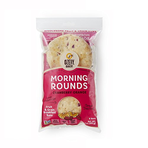OZERY BAKERY Morning Round Pita Bread, Cranberry Orange, 12.7 Ounce (Pack of 6)