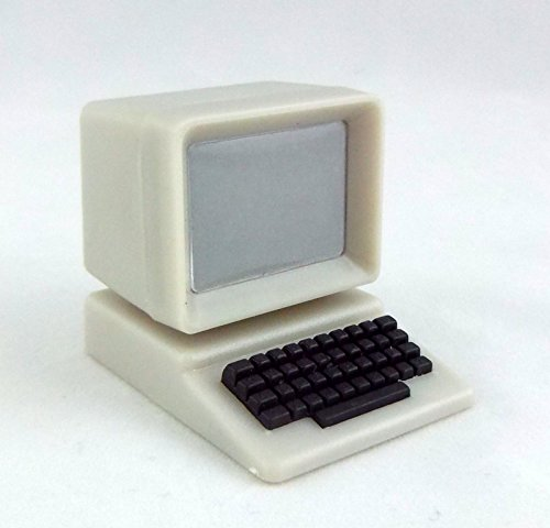 Dollhouse Miniature 1:12 Scale Gray Computer by Town Square from Town Square