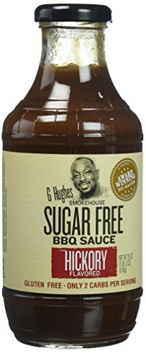 G Hughes Smokehouse Sugar Free BBQ Sauce, Hickory, 18 Ounce (Low Carb Bbq)