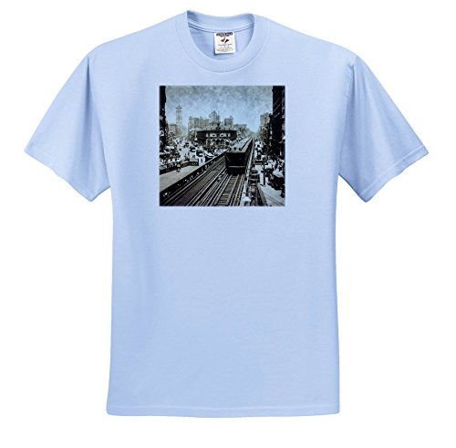 Scenes From The Past Magic Lantern Slides - New York City Herald Square N Ave Upper Broadway To Times Square 1900 - T-Shirts - Light Blue Infant Lap-Shoulder Tee (12M) - Herald Ave