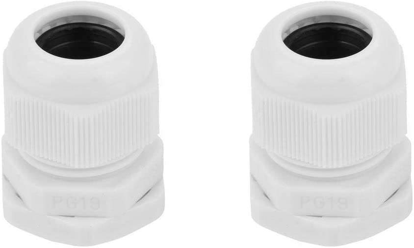 PG11 10pcs//Set PG7-PG21 IP68 White Nylon Cable Waterproof Connector Plastic Cable Gland Connector