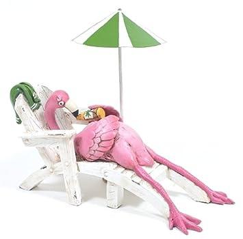 Good Ganz Lounge Chair Flamingo/Drink Figurine