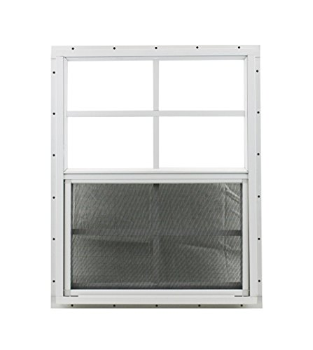 Shed Window 18'' X 23'' White J-channel Mount, SAFETY/TEMPERED GLASS Storage Shed, Playhouse by Shed Windows and More