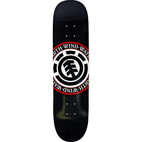 Element Skateboards Seal Black Skateboard Deck - 8.5