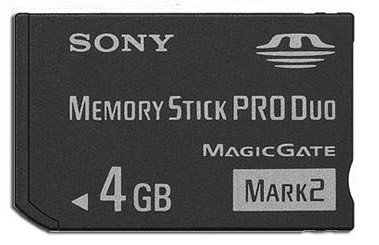 (NEW 4gb 4g Ms Memory Stick Pro Duo Card for Sony PSP Camera One Year Warranty )