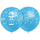 Globos 1ª Comunión Azul Celeste (Pack 8 uds)