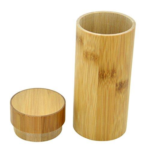 Bois de Lunettes Baosity avec en Lunettes en Rétro Soleil Polarisees Main Fait Cadre Bambou qzv5z