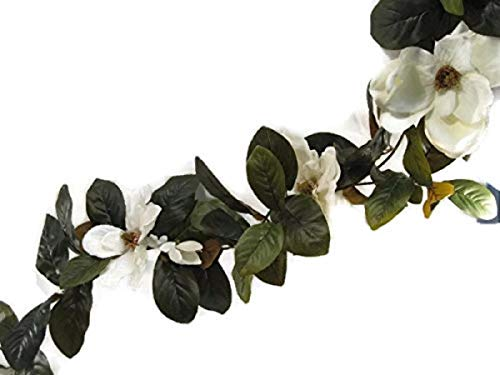 Magnolia Blossom and Leaf Garland (6 FT) ()