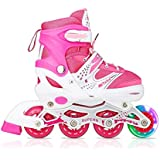 Tuko Girls Rollerblades Adjustable Inline Skate Roller Skates