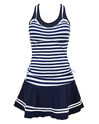 Tempt Me Striped Vintage Swimdress