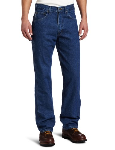 Rodeo Denim Pants - Carhartt Men's Relaxed Fit Denim Carpenter Jean,Dark Stone,30 x 34