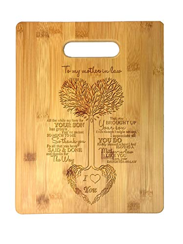 To My Mother in Law Tree Heart Rainbow Sweet Sayings Birthday, Mother