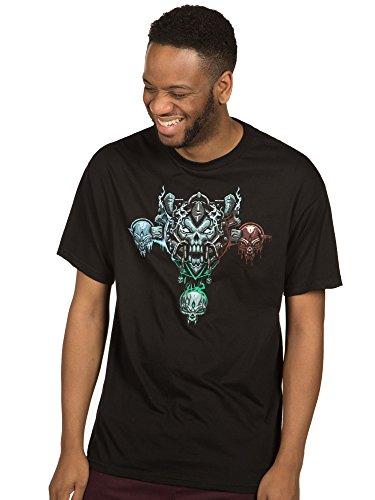 (JINX World of Warcraft Men's Mythic Death Knight Class Premium Cotton T-Shirt (Black, Small))