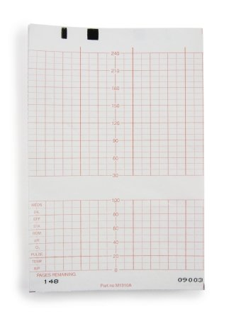 McKesson 26-M1910A Fetal Monitoring Paper Z-Fold, Compatible with Hewlett-Packard, 5.9'' Width, 49' Length (Pack of 6000)