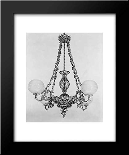 Boston Glass Chandelier - Henry N. Hooper and Company - Boston & Sandwich Glass Company - 20x24 Framed Museum Art Print- Chandelier