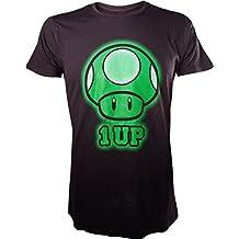 T-Shirt 'Super Mario Bros' - 1Up Pixelated - Noir - XL