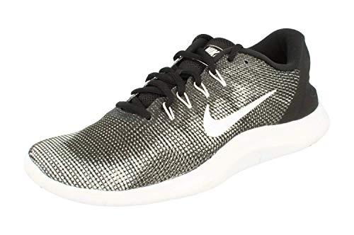 Nike Men's Flex RN 2018 Running Shoes, Black/White, 10.5