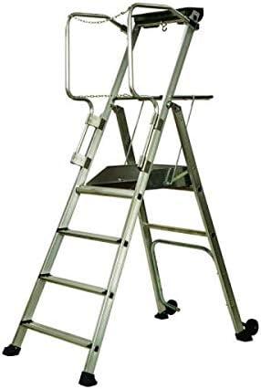 Henry Centaure PL plataforma de trabajo móvil - 3 escalera. Altura 2.70m. Con guardarraíles, ruedas, 2 bandejas de trabajo + 5 años de garantía: Amazon.es: Bricolaje y herramientas