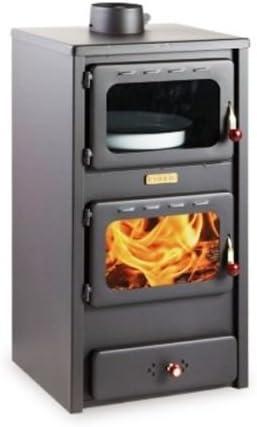 chimenea de madera para para calefacción KUPRO LUX con horno, 11 ...