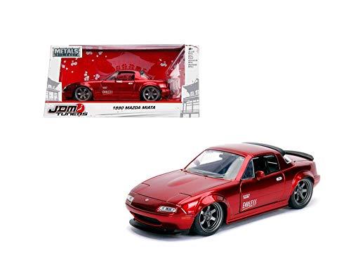 New DIECAST Toys CAR JADA 1:24 W/B - Metals - JDM Tuners - 1990 Mazda Miata Hardtop (RED) 30938