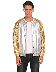 Men's Metallic Nightclub Varsity Jacket