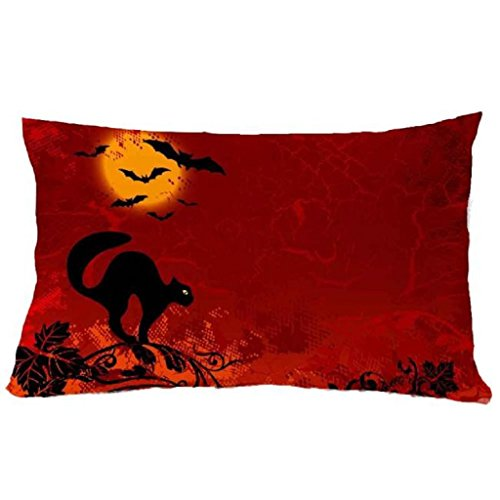 [Laimeng,3050cm Halloween Square Zipper Closure Pillow Cover Cushion Case (T)] (Contour Designs Costumes)