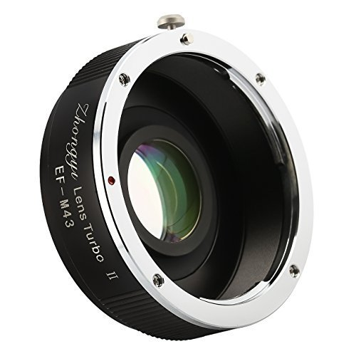 Zhongyi Lens Turbo II EF-M43 Focal Reducer Booster Adapter with Portable Case for Canon EOS Lens to Olympus Panasonic Cameras by ZHONGYI