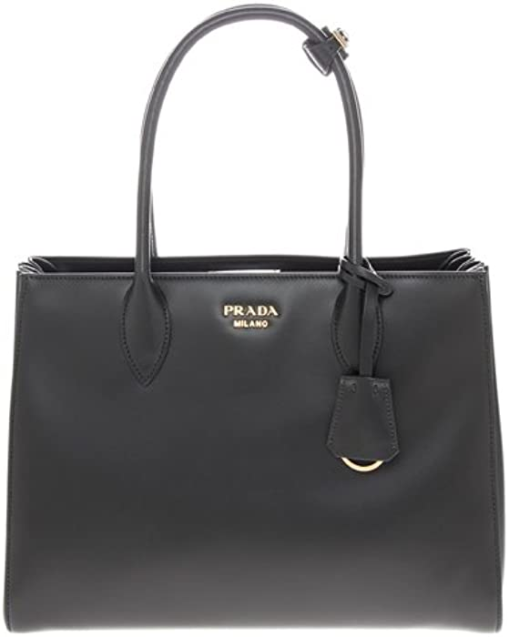 d42887e180ca Amazon.com: Prada Women's Bibliotheque Bag Calf Leather Back: Clothing