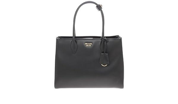 0cebdaf0504b Amazon.com  Prada Women s Bibliotheque Bag Calf Leather Back  Clothing
