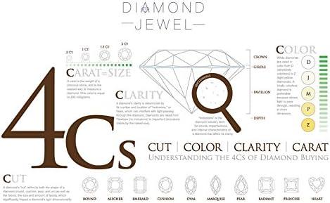 Diamond Jewel 10K Rose Gold 1//4 Cttw Diamond Halo Round Pendant Necklace