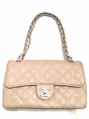 Chanel Purse Bag (KC Luxurys Designer Handbag Envelope Chain Shoulder Bag Beige Handbag)