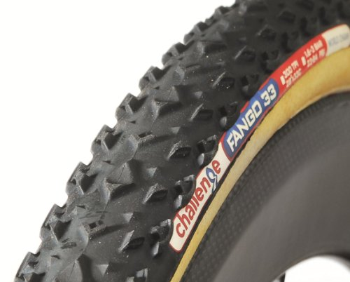 Challenge Fango Cross Tubular Tire (Black/Brown, (Brown Tire)