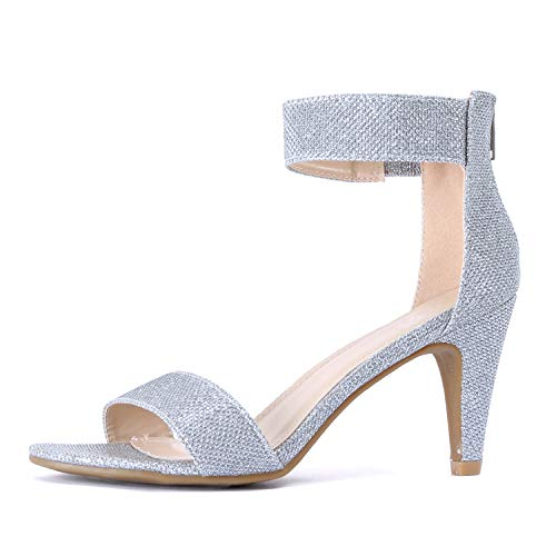 Guilty Shoes - Elysa-1 Silver Metallic, 8