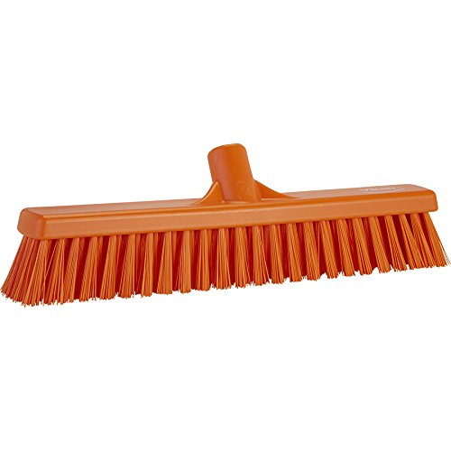 Vikan 31747 Coarse/Fine Sweep Floor Broom Head, Polypropylene Block, 16-1/2'' Polyester Bristle, Orange by Vikan