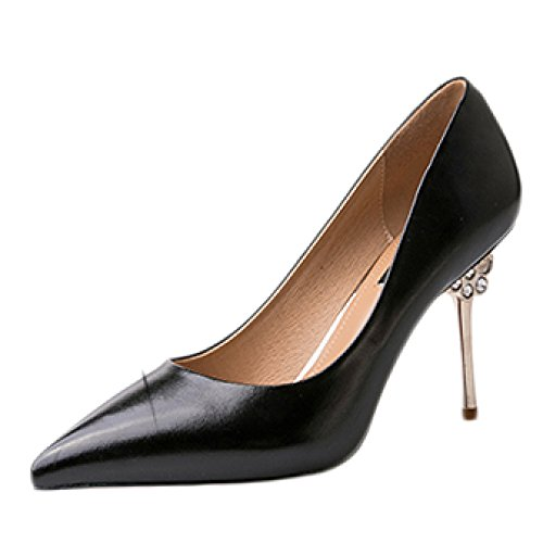 Corte Beige Party 36 Sexy Nozze Alti da Nubile UK Lavoro Discoteca delle Donna Tacchi Scarpe Black 4 Scarpe da 9cm Moda Nero Principessa EU 17q8Iva