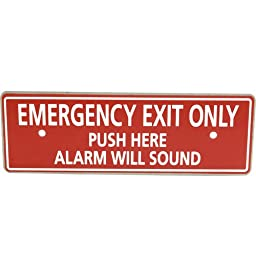 DETEX CORPORATION Emergency Exit Alarm Paddle Bar Plate ECL228