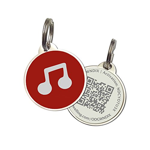 - PetDwelling Music Sound QR Code Pet ID Tag w/Online Pet Profile/Scanned GPS Location(Holiday Deal)