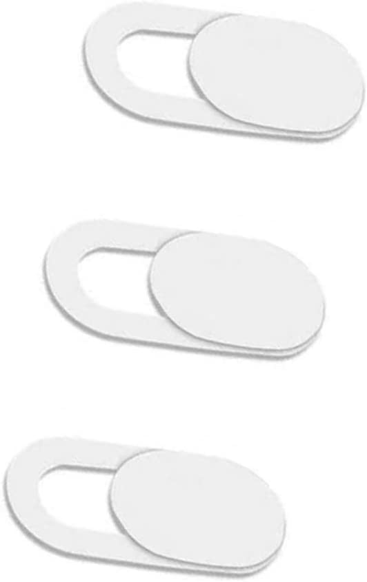Webcam Cover Slider 0.7Mm Thin - Web Camera Cover Fits Laptop, Desktop, Pc, Macboook Pro, iMac, Mac Mini, Computer, Smartphone, Protect Your Privacy Security … (3 Pack White)
