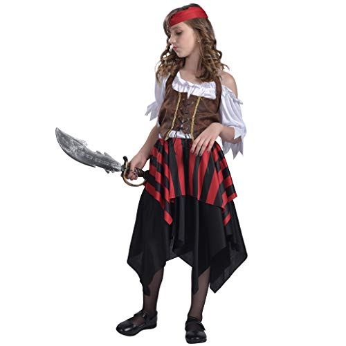 EraSpooky Girl's Pirate Matey Halloween Costume -