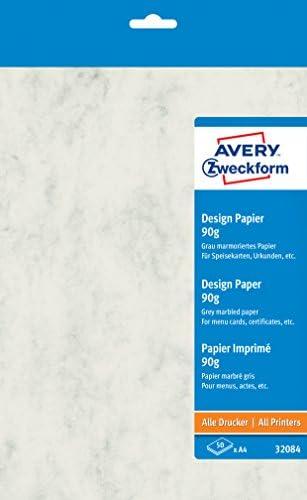 AVERY Zweckform 32085 Design Papiere (A4, unbeschichtet, 90 g/m²) 50 Blatt beige