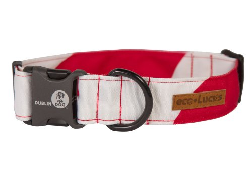 Dublin Dog Co Eco-Lucks Christmas Peppermint Twist Collar, Medium