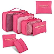 Newdora Travel Organizer Packing Bags 7 Sets Luggage Organizer Travel Storage Bags Perfect Storage Bags for Clothes…