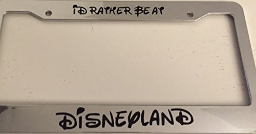 chrome license plate frame disney - 5